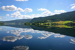 Reflection. Clouds reflected in a lake Royalty Free Stock Images