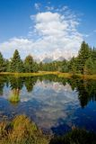 Reflection. S in water of the Grand Tetons park Stock Images