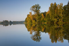Reflection. The Kachlicka pond in the Czech Republic Stock Images