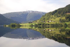 Reflection. Of the mountain in the Norway Stock Photos