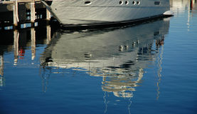 Reflection. Yacht Reflection stock photos