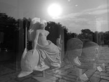 A reflection of the ancient to modern time. Near the Acropolis Athens Greece Royalty Free Stock Photography
