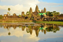 The Reflection of Angkor Wat Stock Images