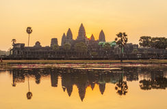 Reflection of Angkor Wat, Siem Reap, Cambodia. Royalty Free Stock Photo