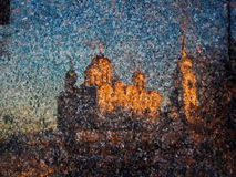 Reflection of the Assumption Cathedral on granite Stock Image