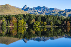 Reflection of autumn colours Royalty Free Stock Photography