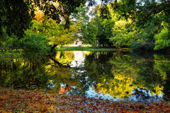 Reflection in autumn park Royalty Free Stock Photography
