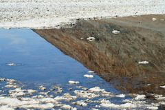 Reflection at Badwater Basin Death Valley royalty free stock photos