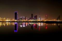 Reflection of Bahrain skyline Royalty Free Stock Image