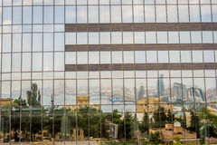 Reflection of Baku in the Flame towers Royalty Free Stock Photo