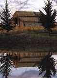Reflection barn Royalty Free Stock Image