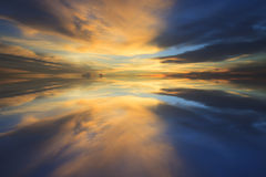 Reflection of beautiful dusky sky in everning use for multipurpo Royalty Free Stock Photography