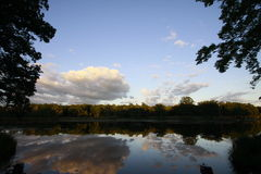 Reflection. Beautiful reflection of sky in water Stock Photography