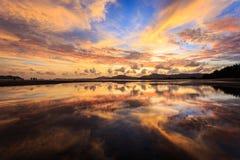 Reflection of Beautiful Sunset in Phuket Stock Images