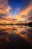 Reflection of Beautiful Sunset in Phuket Royalty Free Stock Photos
