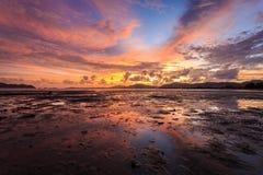 Reflection of Beautiful Sunset in Phuket Stock Photos