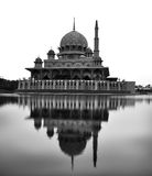 Reflection in black and white of Putra Mosque in Putrajaya, Mala Royalty Free Stock Images