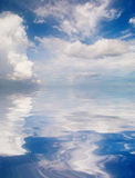 Reflection of blue sky Stock Photography