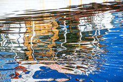 Reflection of a boat in a port Stock Photography