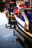 Reflection of boats Stock Photos