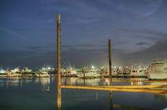 Reflection of boats at Panama City Bay Royalty Free Stock Photos