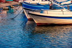 Reflection of boats Royalty Free Stock Images