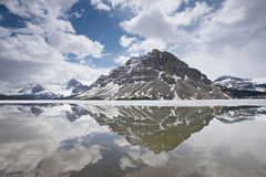 Reflection in Bow Lake Alberta Canada Royalty Free Stock Photography