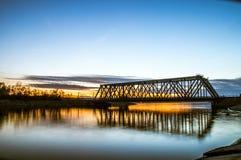 Reflection of a bridge Royalty Free Stock Photos