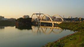 Reflection of bridge royalty free stock image