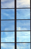 Reflection in the bright window Stock Photography