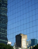 Reflection on the building. Reflection on the Stock Exchange building in Rio de Janeiro, Brazil Royalty Free Stock Photo