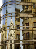 Reflection of the building Stock Image