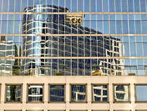 Reflection of building Vancover canada. Reflection of building in window Vancouver canada Stock Photo