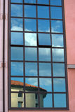Reflection on building windows Royalty Free Stock Photography
