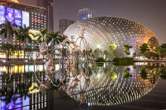 Reflection of Buildings in Shenzhen, China Stock Image
