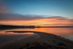Reflection of  Burning Sky During Sunrise/Sunset Stock Photography