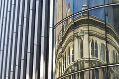 Reflection on a business building in London stock photos