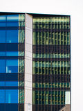 Reflection of business buildings in a glass facade, Frankfurt, G Stock Images