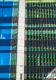 Reflection of business buildings in a glass facade, Frankfurt, G Royalty Free Stock Photo