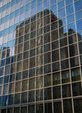 Reflection of business buildings  in a glass facade,  Frankfurt, Germ Royalty Free Stock Photography