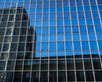 Reflection of business buildings  in a glass facade, Frankfurt, Germ Stock Photography