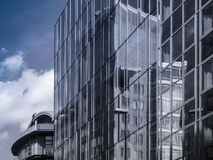 Reflection of business buildings in glass facades, Frankfurt, Ge Royalty Free Stock Images