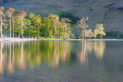 Reflection on the Buttermere Lake Royalty Free Stock Image