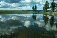 Reflection on Calm Lake Royalty Free Stock Images