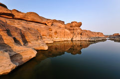 Reflection of Canyon Stock Photo
