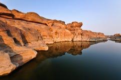 Reflection of Canyon Stock Photo