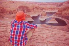 Reflection canyon stock photos