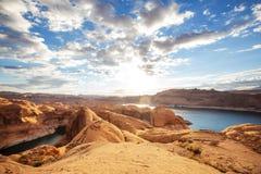 Reflection canyon royalty free stock photography