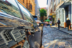 Reflection in the car facades Royalty Free Stock Photos