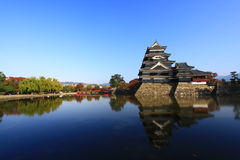 Reflection of The Castle, Matsumoto, Japan Royalty Free Stock Photos